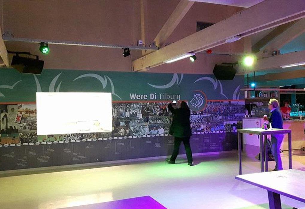Turific heeft de audiovisuele installatie verzorgd in het nieuwe paviljoen van Were Di Tilburg 02