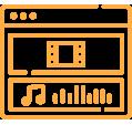 Turific | Audiovisueel icoon oranje
