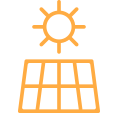 Turific | Zonnepanelen icoon oranje